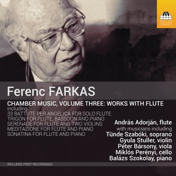 Cover Farkas: Chamber Music, Vol. 3 – Works with Flute