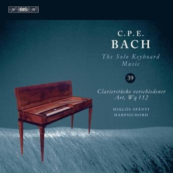 Cover C.P.E. Bach: The Solo Keyboard Music, Vol. 39